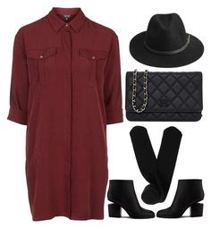 """""""yes"""" by ecem1 ❤ liked on Polyvore featuring Topshop, BeckSöndergaard, Chanel, Alexander Wang and Monki"""
