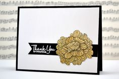 elegant + simple thank you card