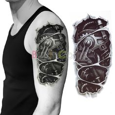 15 Best 3d Robot Tattoos Images Awesome Tattoos Robot Tattoo 3d