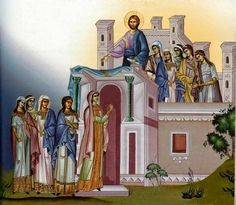 A Deeper Understanding of the Parable of the Ten Virgins from St. Seraphim of Sarov - True Orthodox Diocese of Western Europe Religious Pictures, Religious Icons, Religious Art, Byzantine Icons, Byzantine Art, Saint Antony, Holy Week, Life Of Christ, Mosaics