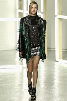 Leather fringe - Rodarte, follow live tweets of NYC fashion week @Nancy Linder