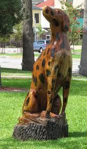 Dalmatian - Dead Tree Sculpture