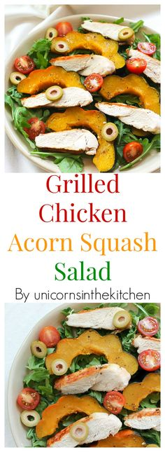 Easy to make and ready in no time, this grilled chicken acorn squash salad is perfect for fall.