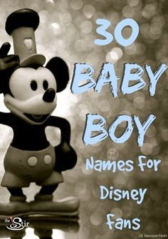 Disney offers so much inspiration for baby names -- 30 great ones here for boys! http://thestir.cafemom.com/pregnancy/171973/30_disneyinspired_baby_names_for?utm_medium=sm&utm_source=pinterest&utm_content=thestir&newsletter