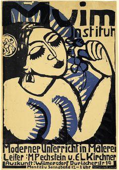 ernst ludwig kirchner, plakat muim-institut, 1911