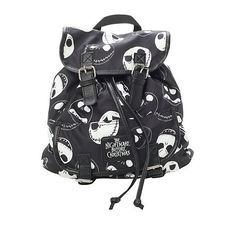 The Nightmare Before Christmas Jack Slouch Backpack | Hot Topic ($24) ❤ liked on Polyvore featuring bags, backpacks, backpack, accessories, taschen, day pack backpack, pattern bag, print backpacks, pattern backpack and draw string backpack