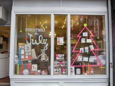 Pink Olive Christmas in July storefront