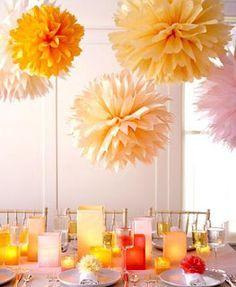 <h1>Pompones o flores colgantes de papel, muy faciles</h1> : VCTRY's BLOG