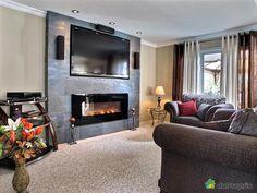 Image result for foyer electrique et tv Decoration, Basement, Indoor, Design, Recherche Google, Home Decor, Foyers, Images, Home Theaters
