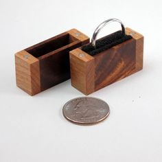 Engagement Ring Box Proposal Ring Box Acacia Wood by JMCraftworks