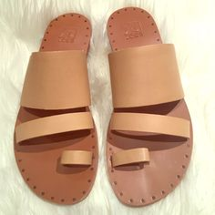 "Joe'S Natural Leather Sandals """"Host Pick"""""
