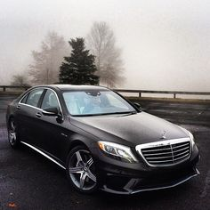 577 horsepower, 0-60 in 3.9 seconds, and four all-Nappa leather seats equipped with hot stone massage in this #S63 #AMG. Fog horn sold separately.