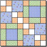 Four Squares 2 (used this block to make Caleb's baby quilt-splendid result)