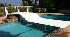 Perfect for a backyard wedding ceremony - plexiglass over pool