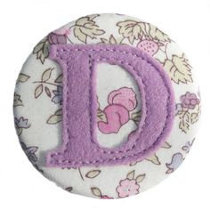 initial badge for girls by nickynackynoo | notonthehighstreet.com