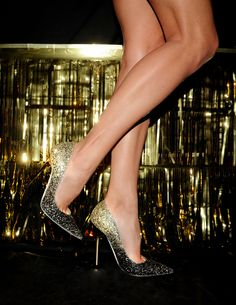 Fade to Gold: Steal the spotlight in Jimmy Choo's 'Anouk' Glitter Degrade Pumps.