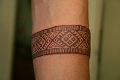 Estonian tribal wrist tattoo