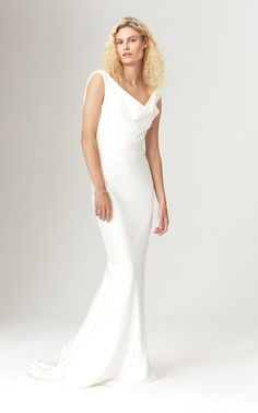 26f1a13f67d 23 awesome cowl neck wedding dress images