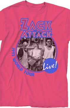 Zack Attack World Tour T-Shirt: 80s TV: Saved By The Bell