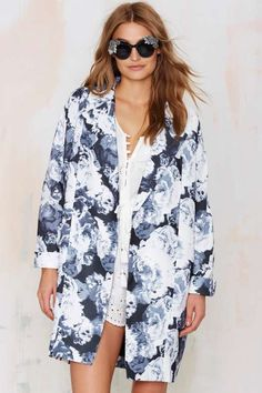 The Fifth Walking Home Midi Coat - Floral - What's New