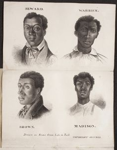 In 1841, 4 black men—M Henderson, A Warrick, J Seward, and C Brown were put on trial; convicted and sentenced to death. They were hanged on July 9, 1841. Tickets for a steamboat excursion to watch the executions on Duncan's Island, sold for $1.50 to about 20,000 people, or 75 percent of St. Louis's population at the time. *With rising tension of race/ slavery it ended with the severed heads of the four hung in the front window of Corse's Drug Store to deter Black resistance.