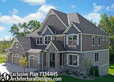 """Game On!"" Exclusive House Plan 73344HS 4-5 Bedrooms Indoor hoops court!"