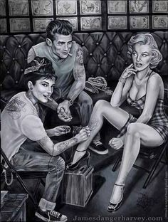 #Rockabilly retro Hollywood legend #art