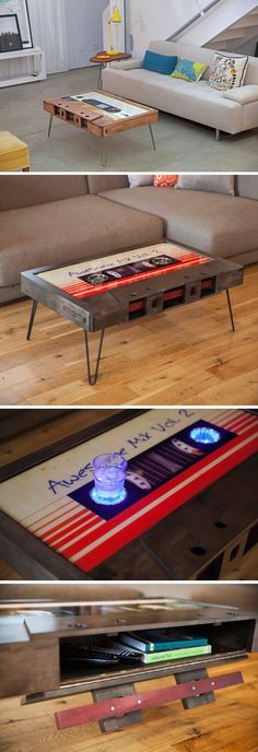 Functional Mixtape Coffee Tables #retrohomedecor