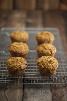 Pistachio Chocolate Chip Muffins by Naturally Ella