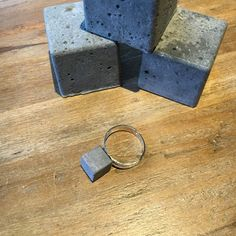 cubes ring - concrete jewelry