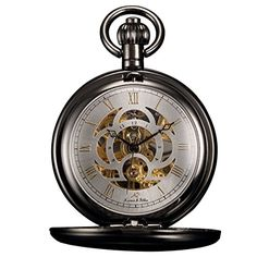 KS Unisex KSP009 Full Hunter Skeleton Dial Mechanical Pocket Watch >>> Read more reviews of the product by visiting the link on the image.