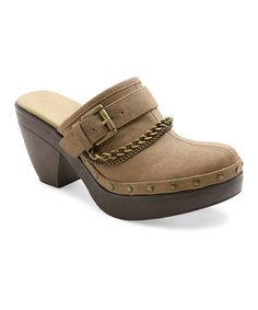 Another great find on #zulily! Taupe Okeefe Mule #zulilyfinds
