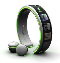 Bracelet MP3 Player Concept - if/when it becomes available I am so getting myself one of these!