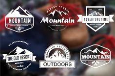 Mountain Vintage Badges by @lovepowerdesign