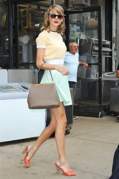 Well I simply adore this outfit. The Taylor Swift Guide To An Impossibly Polished Post-Gym Look  http://www.refinery29.com/2014/07/71036/taylor-swift-gym-style-tips#slide5