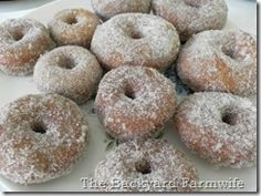A manageable number of homemade donuts to make - instead of a humongo batch!
