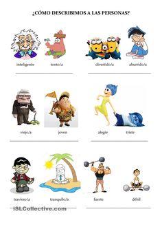 Adjetivos para describir a las personas