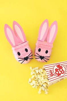 These DIY Pink Bunny Slipper Piñatas make the perfect sleepover craft! #sleepoverideas #sleepovercrafts Sleepover Crafts, Bunny Slippers, Diy Party, Party Ideas, Party Printables, Crafty, Creative, Beauty Products, Pink