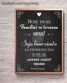 Chalkboard para casamento.  Personalize seu evento e fique com uma lembrança super especial do seu grande dia.