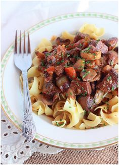 Running out of ideas for deer meat recipes? This venison recipe is a Southern remake of Julia Child's most famous dish -- bourguignon. It's rich and hearty and perfect for a chilly winter night. Elk Recipes, Venison Recipes, Cooking Recipes, Healthy Recipes, Game Recipes, Cooking Venison, Cooking Corn, Venison Meals, Healthy Food