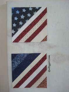Alycia Quilts: Big Blowout Block Drive for QOV - Flag String Block Patriotic Quilts, Patriotic Crafts, Patriotic Party, July Crafts, Quilting Tutorials, Quilting Projects, Sewing Projects, Sewing Ideas, Barn Quilt Patterns
