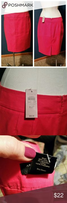 Ann Taylor hot pink pencil skirt Brand new with tags. Hot pink. Fully lined. Small slit in the back as well as a zipper in the back. Ann Taylor Skirts Pencil