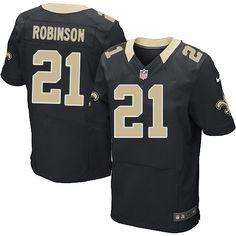 Men Nike New Orleans Saints #21 Patrick Robinson Elite Black Team Color NFL Jersey Sale