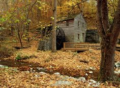 Grist mill, Norris Dam State Park, Tennessee. Photo (c) SuperStock, Inc.