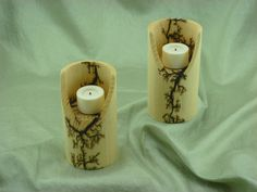 Votive Candle Holder by FrillsElectricWood on Etsy