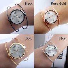 Zespoły zegarków proste stalowe metalowe vintage okrągły zegar kwarcowy na rękę damski dorywczo okablowany