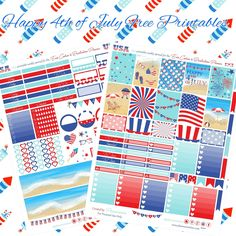 Bonus 4th of July Printable for the Erin Condren & Recollections Planner - Planner Onelove