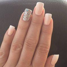 Silver-glitter-accent-nail-art-idea Glitter Accent Nail Art - Ideas for Accent Nails That Update Your Manicure #bestnailartideas #nails #design