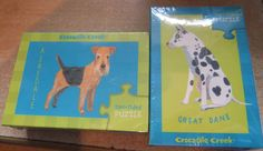 Two sided puzzle with Airedale