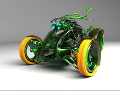 Cars And Motorcycles Of The Future.